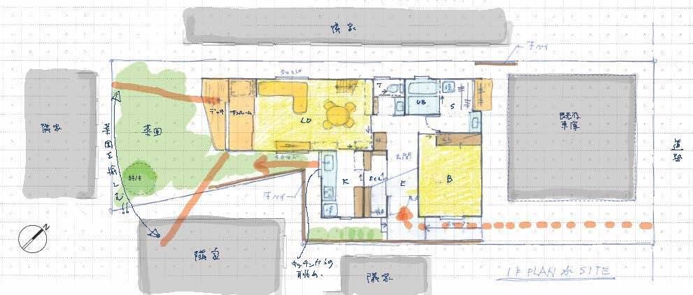 変形敷地のプランニング 金沢町の家2_b0349892_16483368.jpg