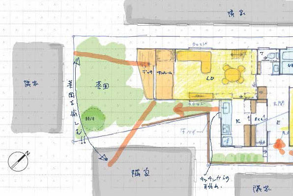 変形敷地のプランニング 金沢町の家2_b0349892_17265372.jpg