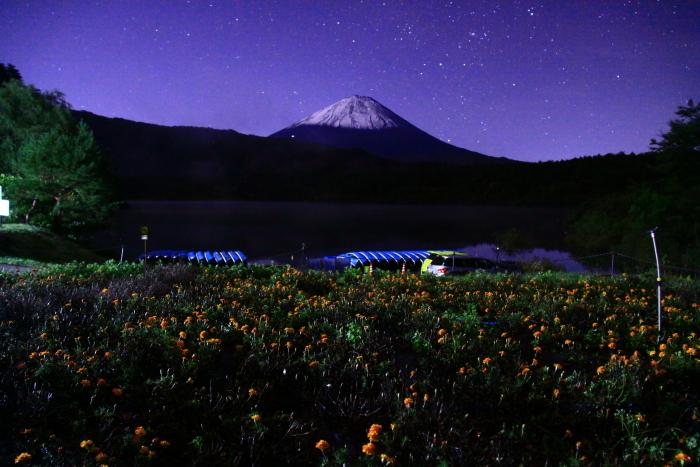 令和元年10月の富士(20)西湖の星空と富士_e0344396_20484104.jpg