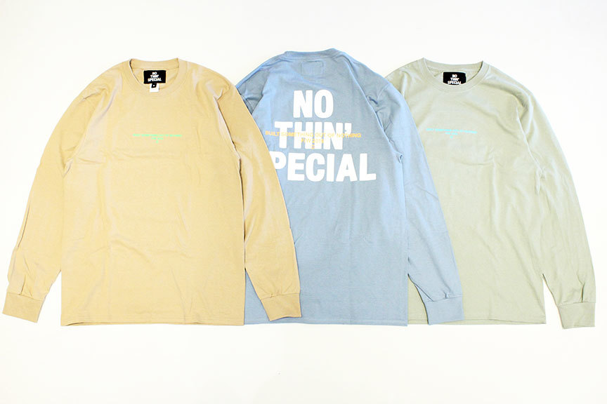 "NOTHIN\'SPECIAL (ナッシンスペシャル) "" F/W 19 LOGO LONG SLEEVE \""_b0122806_12411178.jpg"