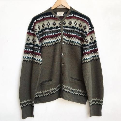 1960\'s Jacquard Knit Design Cardigan✨_a0182112_12332637.jpg