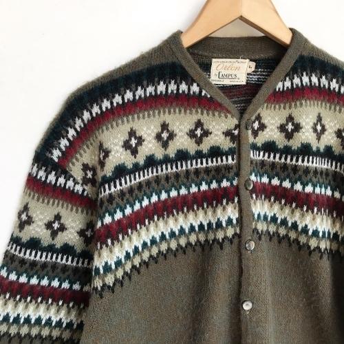 1960\'s Jacquard Knit Design Cardigan✨_a0182112_12332825.jpg