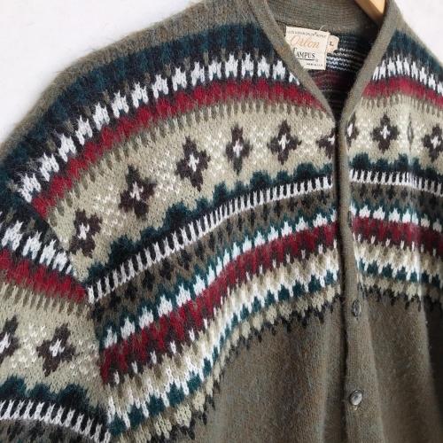 1960\'s Jacquard Knit Design Cardigan✨_a0182112_12332950.jpg