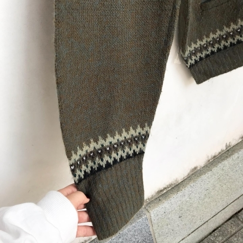 1960\'s Jacquard Knit Design Cardigan✨_a0182112_12333053.jpg
