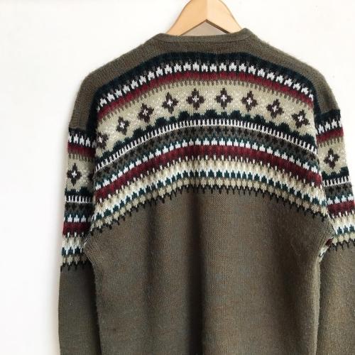 1960\'s Jacquard Knit Design Cardigan✨_a0182112_12334955.jpg