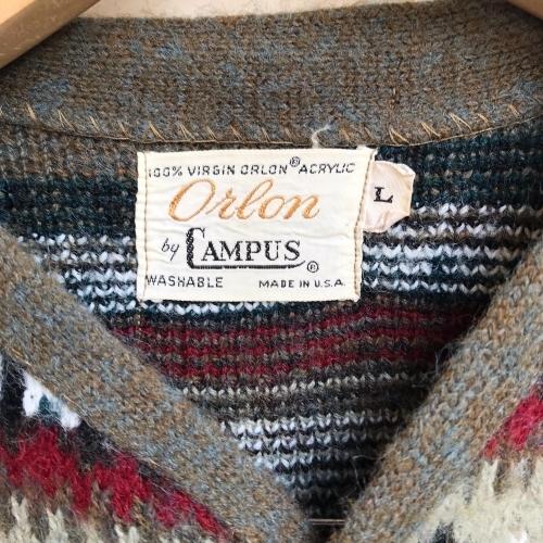 1960\'s Jacquard Knit Design Cardigan✨_a0182112_12334966.jpg