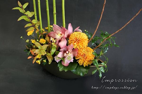 定期装花から サンゴミズキ 押水イエロー_a0085317_15321988.jpg