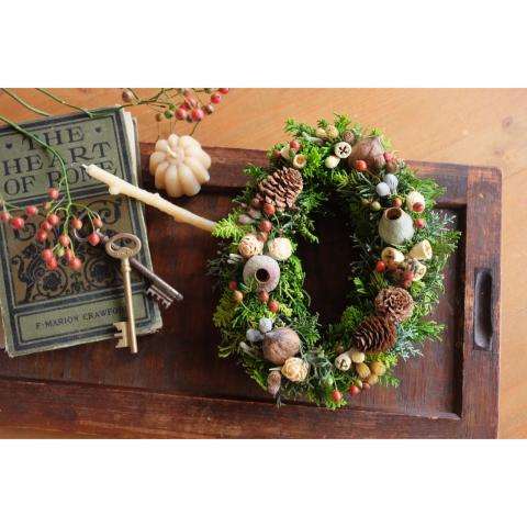 11月 クリスマスリースWS_a0161718_12080062.jpg