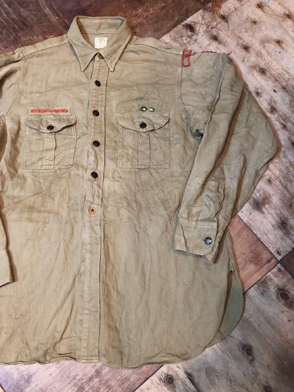 10月27日(日)入荷!30s〜40s チェンジボタン、マチ付き ボーイスカウトシャツ!_c0144020_14262620.jpg