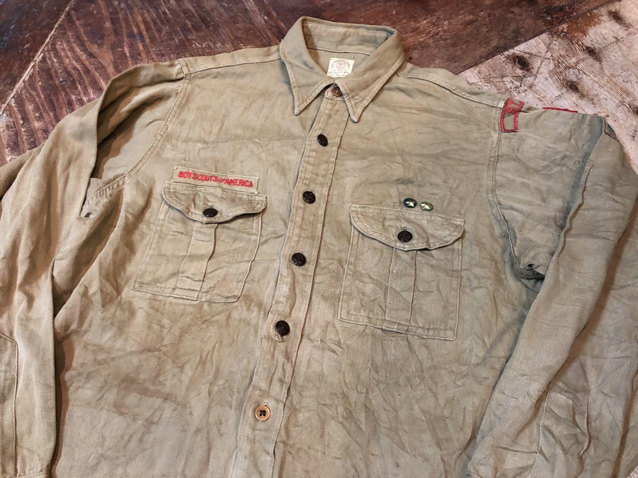 10月27日(日)入荷!30s〜40s チェンジボタン、マチ付き ボーイスカウトシャツ!_c0144020_14264419.jpg
