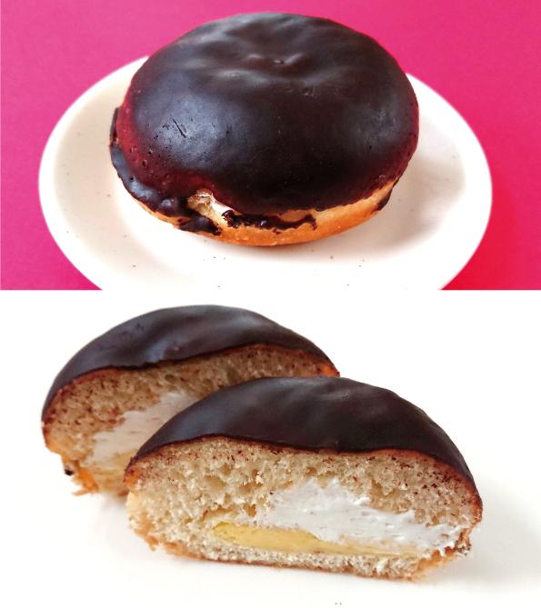 【袋ドーナツ】Pasco「銀チョコドーナツカスタード」【意外とくどくない】_d0272182_10580543.jpg