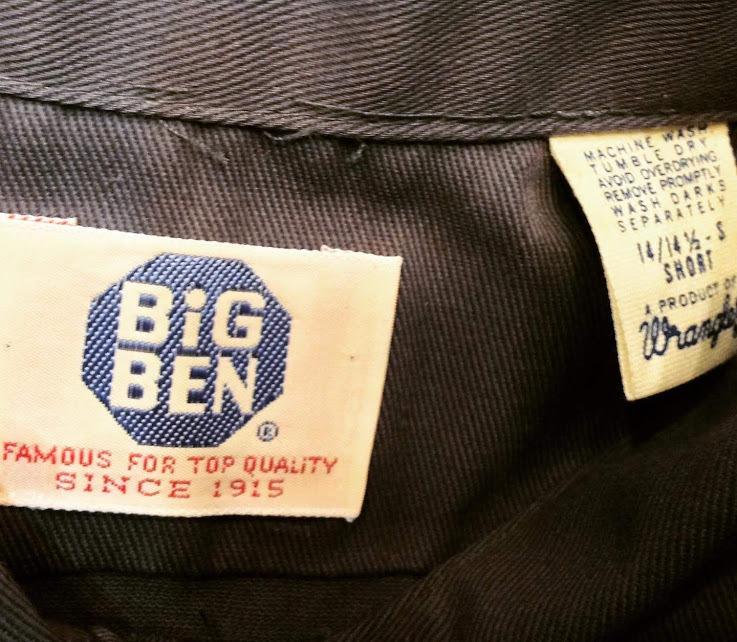 10月28日(月)入荷! 80s デッドストック BIG BEN wrangler ワークシャツ!_c0144020_14354902.jpg