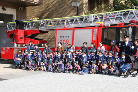 令和元年度秋の火災予防運動~幼年消防クラブ員と一日消防署長による防火広報パレード~_f0237658_08490826.jpg