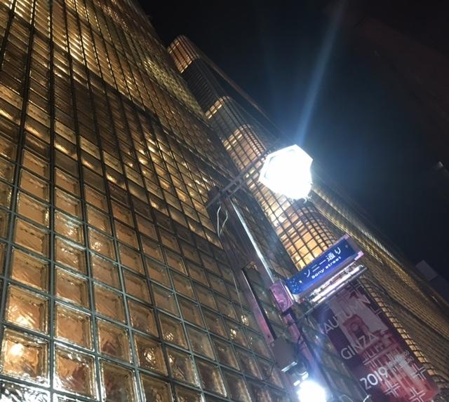 Glass block @GINZA  夜の美しい照明に感動~!_a0165160_17321953.jpg