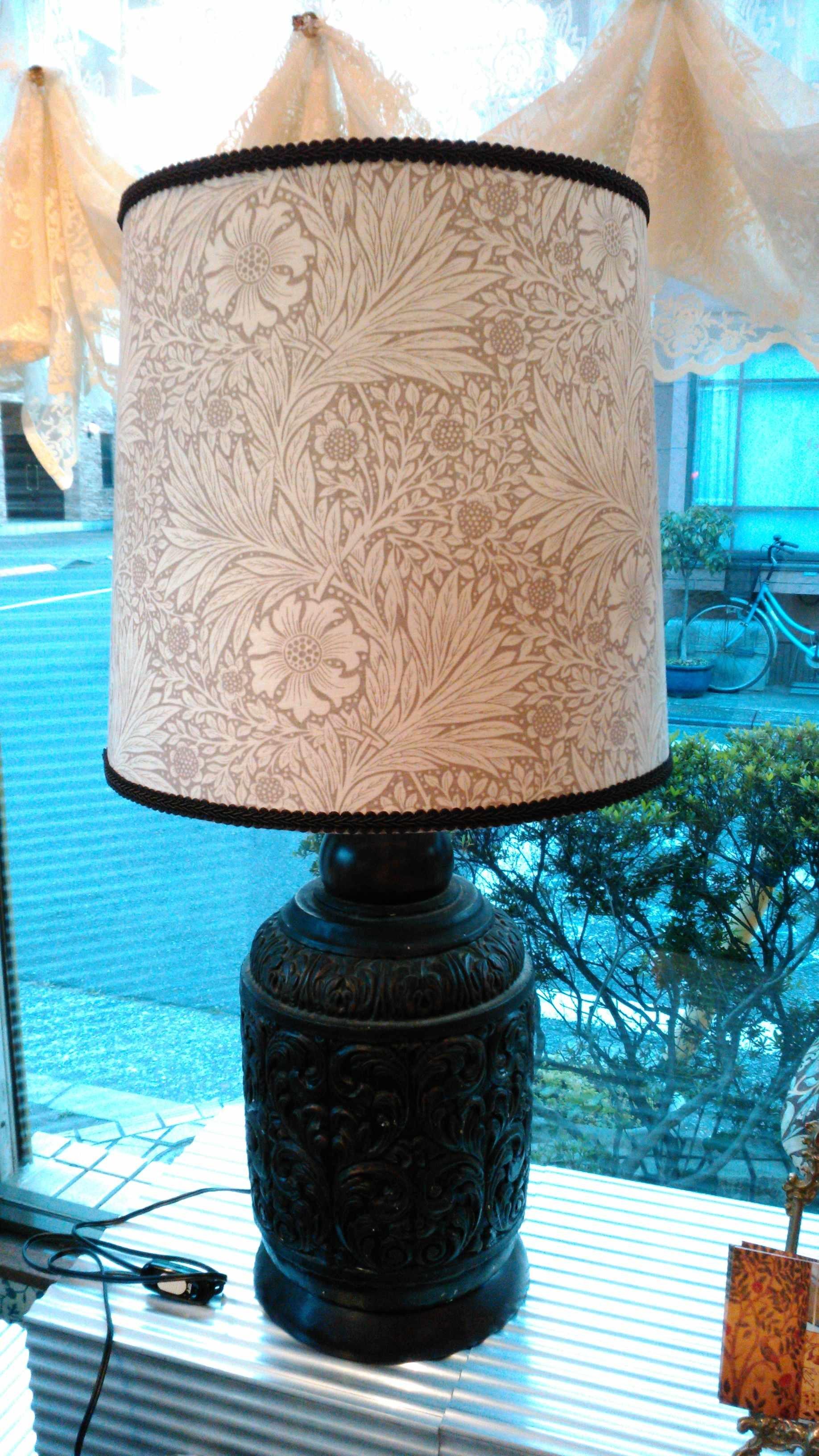 ランプシェード張替・修理 モリス『マリーゴールド』 ウィリアムモリス正規販売店のブライト_c0157866_17374329.jpg