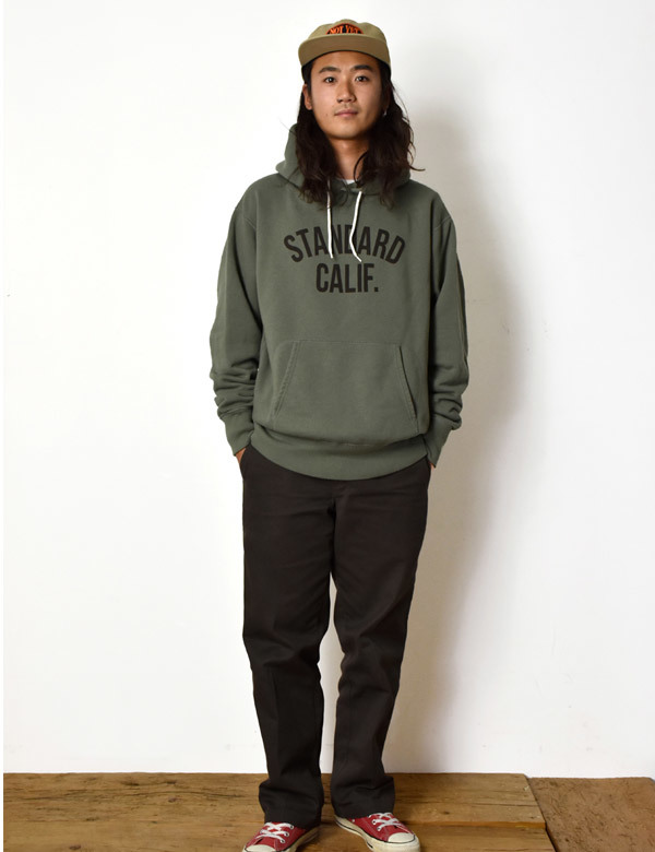 【DELIVERY】 STANDARD CALIFORNIA - Pullover Hood Sweat with Logo_a0076701_17001277.jpg