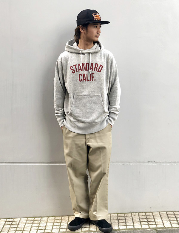 【DELIVERY】 STANDARD CALIFORNIA - Pullover Hood Sweat with Logo_a0076701_17001878.jpg