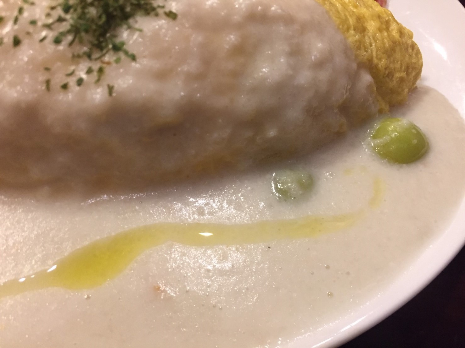 喫茶 1er ぷるみえ (鶏そぼろご飯に里芋のクリームソース)_e0115904_12182958.jpg