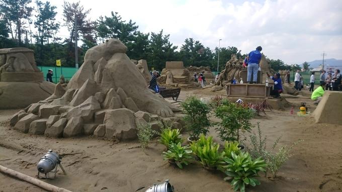 砂像展と植栽_f0035506_13443531.jpg