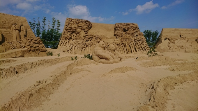 砂像展と植栽_f0035506_13551980.jpg