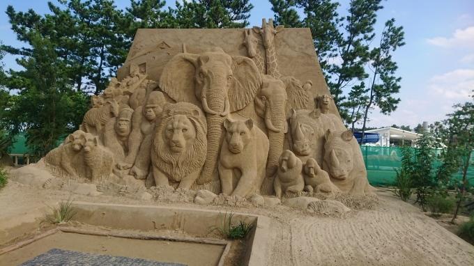 砂像展と植栽_f0035506_13575738.jpg