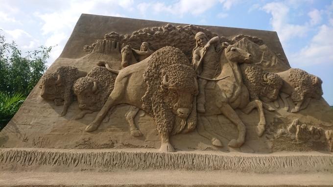 砂像展と植栽_f0035506_13584336.jpg