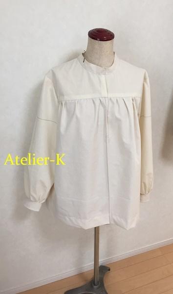 ギャザーたっぷりのシャツ作っています。_c0319009_15063576.jpg