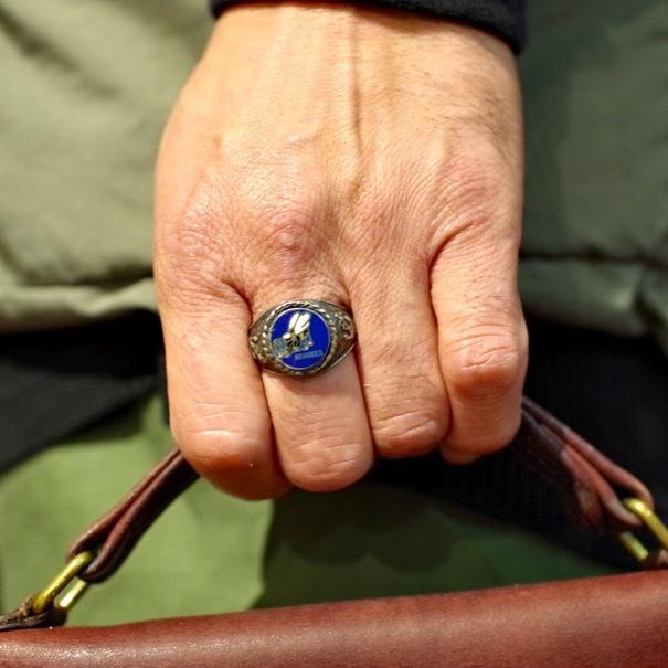 "Old Coach & USN \""SEABEES\"" Vintage Sterling Silver Ring_d0257333_20334076.jpg"