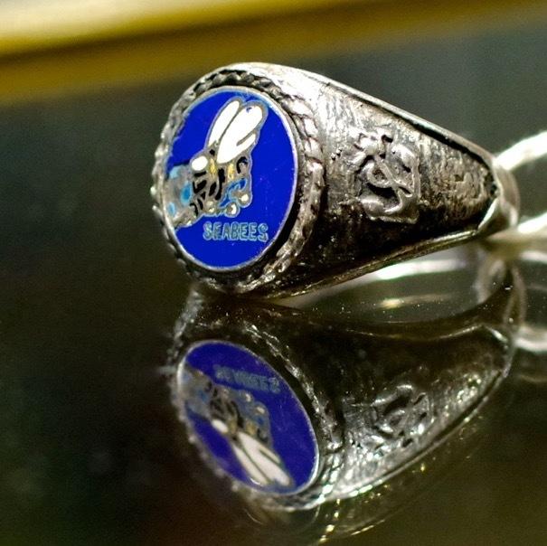 "Old Coach & USN \""SEABEES\"" Vintage Sterling Silver Ring_d0257333_20414591.jpg"