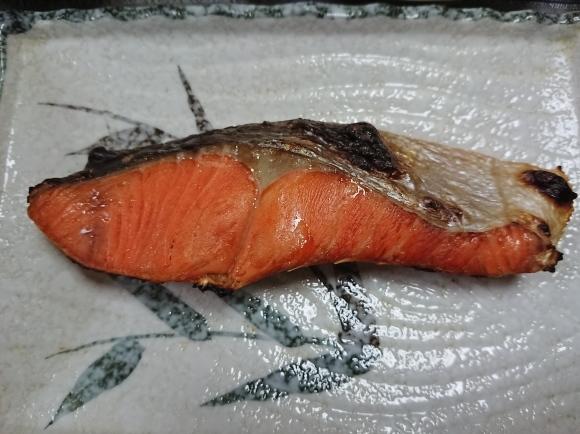 10/30 焼塩紅鮭納豆新米定食@自宅_b0042308_10492782.jpg