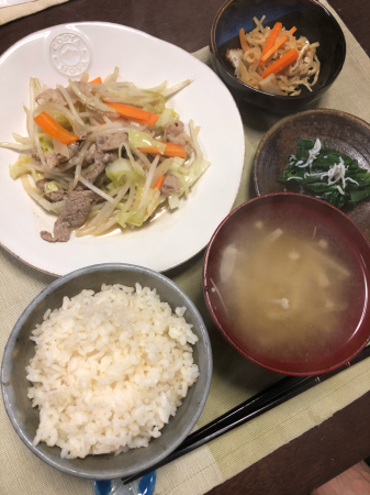 肉野菜炒め_d0235108_22014337.jpg