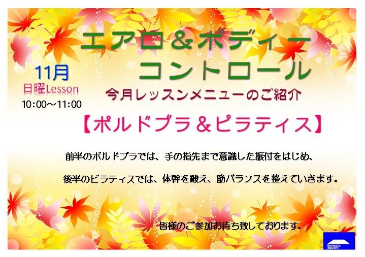 11月のエアロ&ボディーコントロールのお知らせ_d0180431_11275571.jpg