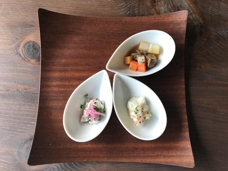 11月の料理「一皿目 3品」魚&ホイップクリーム_d0177560_21445646.jpeg
