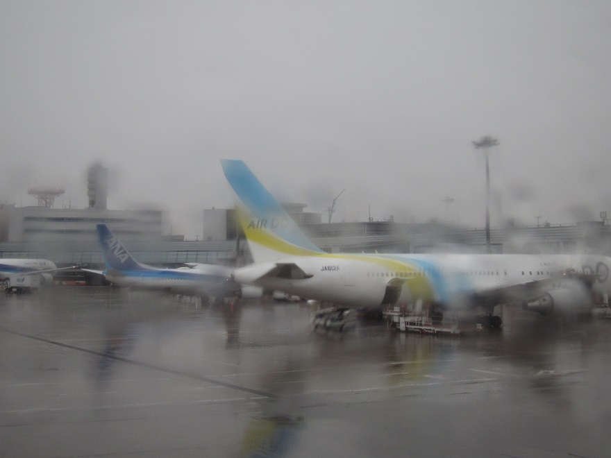 雨が降る中での羽田空港・・_d0202264_8481846.jpg