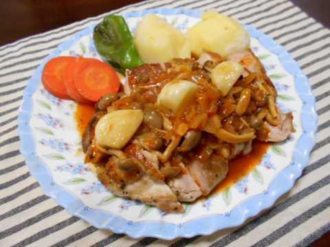 鶏もも肉のローズマリー焼き_f0019498_18123199.jpg