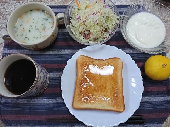10/31 アカシアの蜂蜜トーストセット@自宅_b0042308_09370400.jpg