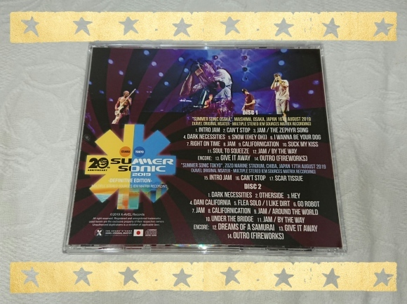 RED HOT CHILI PEPPERS / SUMMER SONIC 2019 COMPLETE DEFINITIVE EDITION_b0042308_09562891.jpg