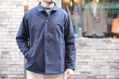 "「Jackman」経年変化も楽しめる ""Sweat Coach Jacket\"" ご紹介_f0191324_08284214.jpg"
