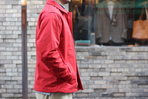 "「Jackman」経年変化も楽しめる ""Sweat Coach Jacket\"" ご紹介_f0191324_08311330.jpg"