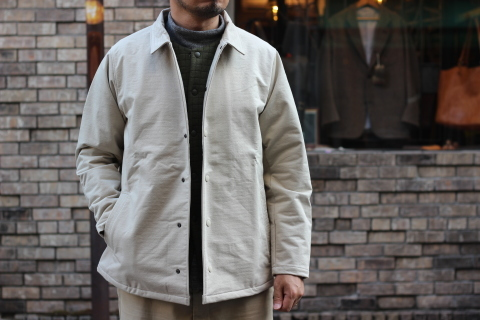 "「Jackman」経年変化も楽しめる ""Sweat Coach Jacket\"" ご紹介_f0191324_08320117.jpg"