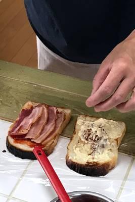 パン教室で「湯種食パンとBLTサンド」_a0165538_09524657.jpg