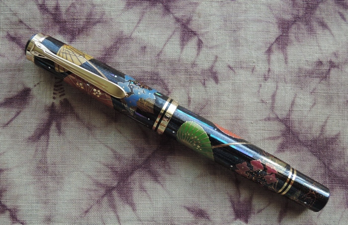 限定蒔絵万年筆「 和 傘(わがさ)」、撮りました。_e0200879_10104587.jpg