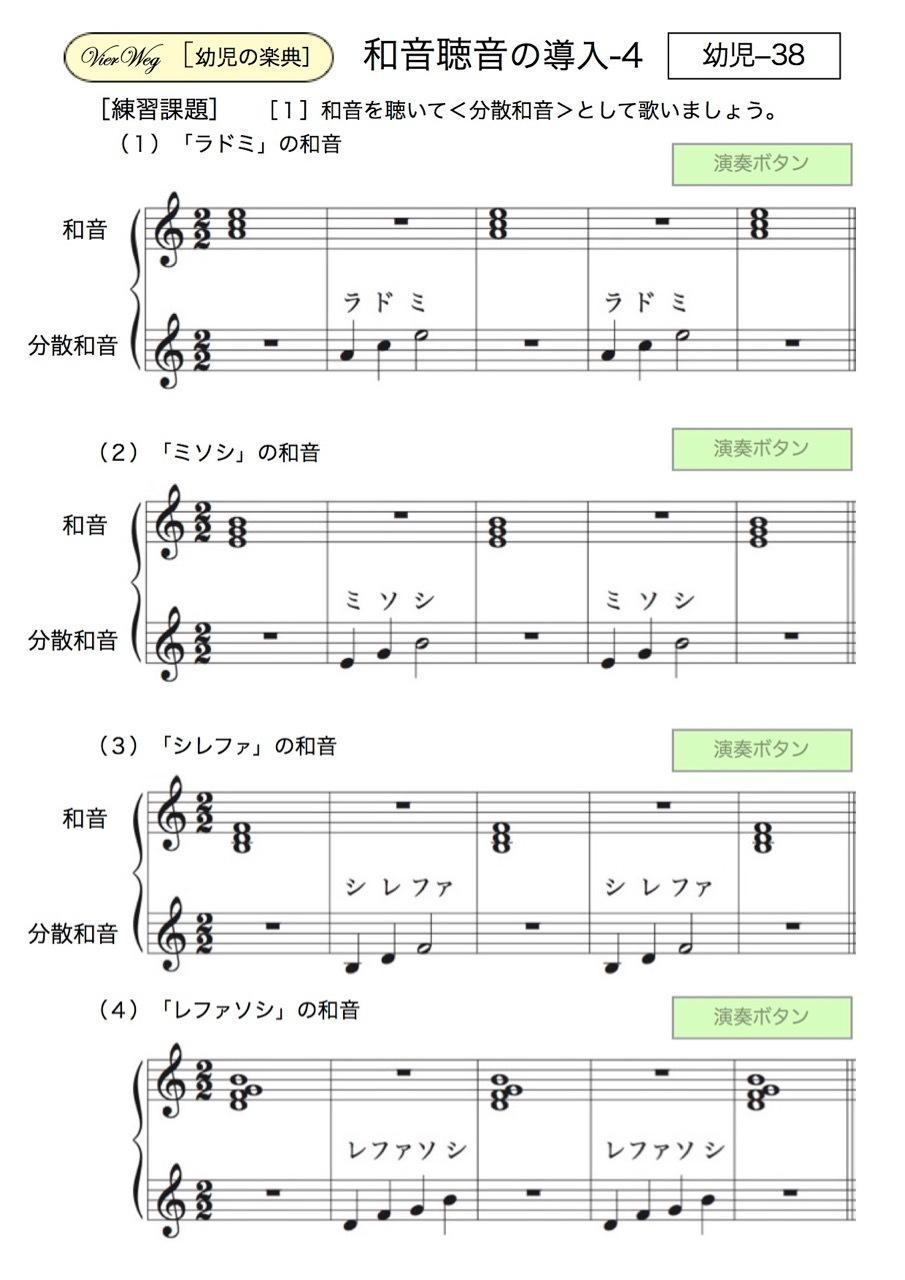 <お母さんと幼児の為の楽典>-38 「和音聴音への導入」-4_d0016397_01060083.jpg