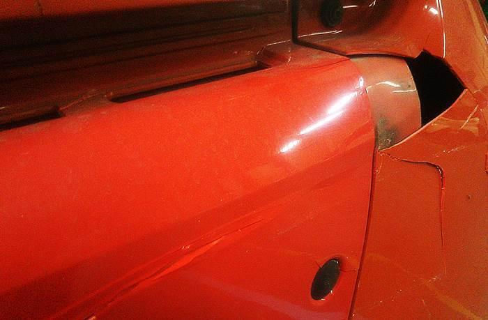 MCCスマート MC011K 駐車場での接触事故 修理_d0345614_17260657.jpg