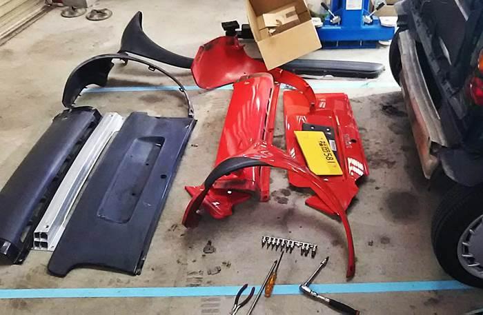 MCCスマート MC011K 駐車場での接触事故 修理_d0345614_17262956.jpg