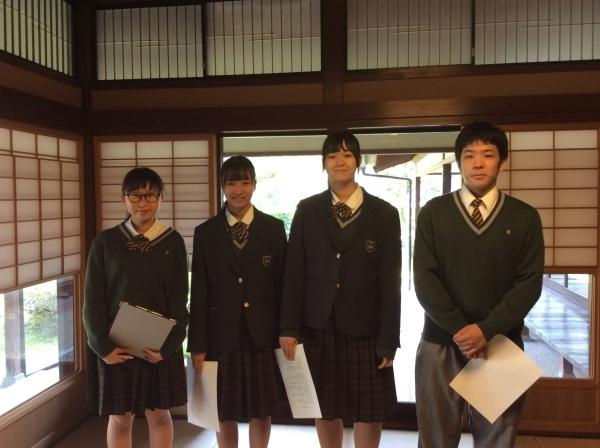大聖寺高校(1年生)4人組が「芭蕉の館」を訪れました。_f0289632_14120147.jpg