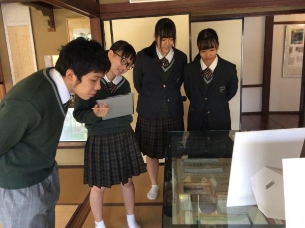 大聖寺高校(1年生)4人組が「芭蕉の館」を訪れました。_f0289632_14123997.jpg