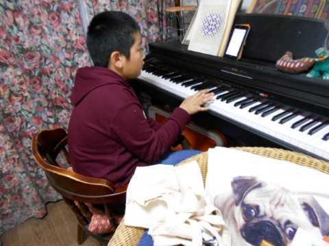 兄孫がピアノで遊ぶ&大根葉のつくだ煮_f0019498_20203079.jpg
