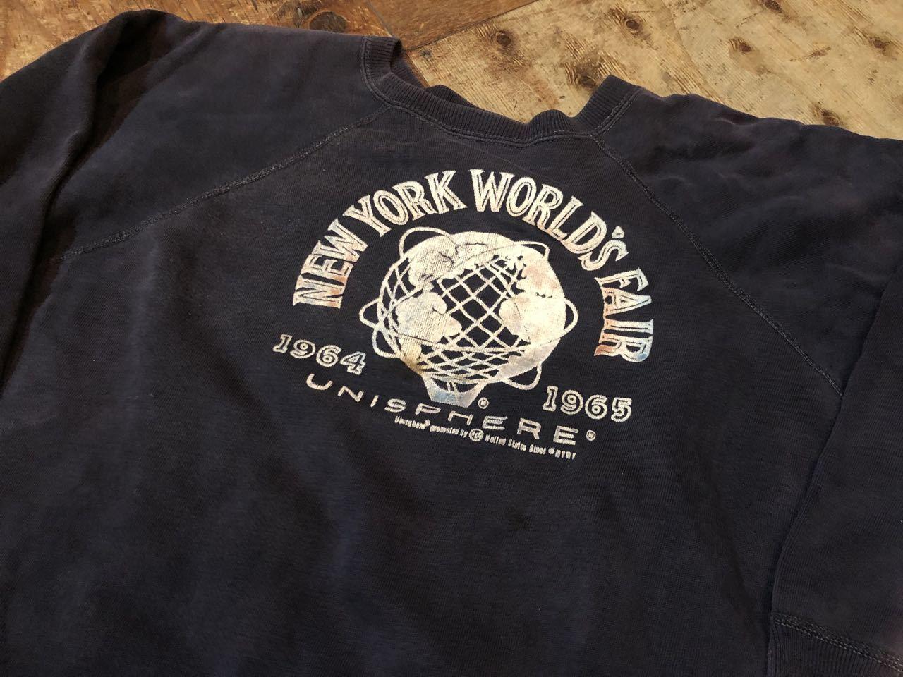 11月3日(日)入荷!1964年 NEW YORK WORLD\'S FAIR カラーフロッキー 記念スエット! _c0144020_14253005.jpg