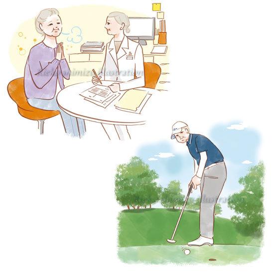 「健康365」--高齢者のイラスト_f0227738_16131658.jpg